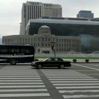 Photo taken at City Hall Stn. by ByungChang A. on 6/4/2012