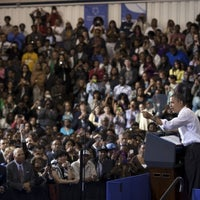 Photo taken at Prince George's Community College by The White House on 3/21/2012