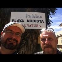 Photo taken at Playa De Benalnatura by Jesus A. on 5/8/2012