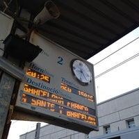 Photo taken at Tarragona Railway Station by Alberto J. on 4/19/2012
