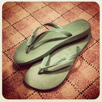 Photo taken at Havaianas by Richard G. on 5/12/2012