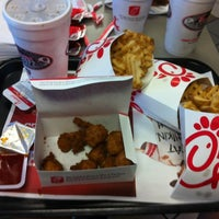 Photo taken at Chick-fil-A Monkey Junction by Caroline Y. on 8/13/2012
