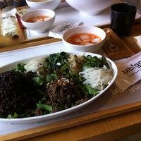Photo taken at Bibigo by Hyejin P. on 6/10/2012