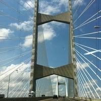 Photo taken at Napoleon Bonaparte Broward (Dames Point) Bridge by Joseph M. on 4/13/2012