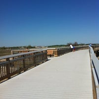 Photo taken at Silver Sands State Park Boardwalk by Latha S. on 5/19/2012