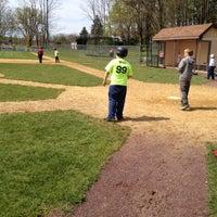 Photo taken at Christy Mathewson Baseball Field by Michael M. on 4/28/2012