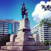 Photo taken at Farragut Square by Treshea on 5/25/2012