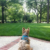 Photo taken at Flagpole Green - Forest Hills Gardens by Christine V. on 5/16/2012