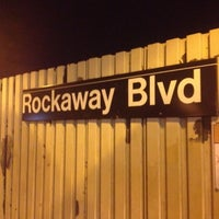 Photo taken at MTA Subway - Rockaway Blvd (A) by Darius S. on 7/12/2012