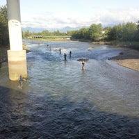 Photo taken at Bridge Seafood by Rick K. on 8/4/2012