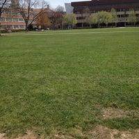 Photo taken at Syracuse University Quad by Krysta K. on 4/17/2012