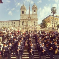 Photo taken at Piazza di Spagna by Alex S. on 3/18/2012