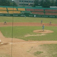 Photo taken at Cheongju Baseball Stadium by KwanHong L. on 6/16/2012
