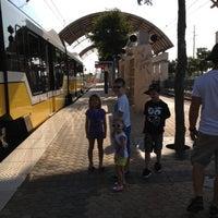 Photo taken at Downtown Garland Station (DART Rail) by Brittney T. on 8/11/2012