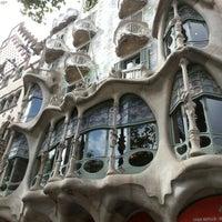 Photo taken at Passeig de Gràcia by Omer K. on 7/16/2012
