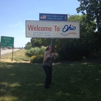 Photo taken at Ohio / Indiana - State Line by Gabrielle H. on 6/9/2012