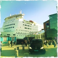 Photo taken at Frihamnsterminalen | Tallink - S:t Peter Line by Victor S. on 4/8/2012