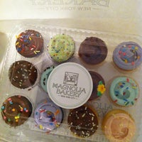Photo taken at Magnolia Bakery by Sandy C. on 4/11/2012