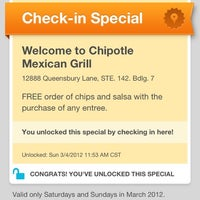 Photo taken at Chipotle Mexican Grill by Kate W. on 3/4/2012
