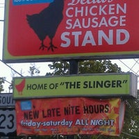 Photo taken at Delia's Chicken Sausage Stand by Nikki on 4/2/2012