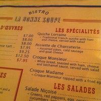 Photo taken at La Bonne Soupe by James C. on 3/6/2012