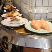 Photo taken at Kulu Kulu Sushi by Kris T. on 9/3/2012