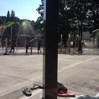 Photo taken at Greenwood St Sprinkler Park by J Marlene on 8/3/2012