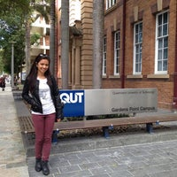 Photo taken at QUT Gardens Point by Myra I. on 7/27/2012