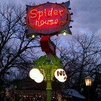 Photo taken at Spider House Patio Bar & Cafe by Aurelio T. on 2/4/2012