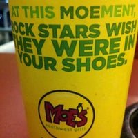 Photo taken at Moe's Southwest Grill by Rosalyn on 2/27/2012