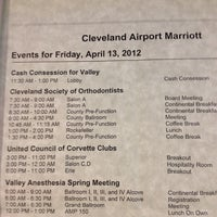 Photo taken at Marriott Cleveland Airport by Brian I. on 4/13/2012