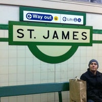 Photo taken at St James Station by Ana G. on 6/2/2012