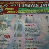 Photo taken at Depot Lumayan Jaya by Agung S. on 7/26/2012