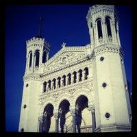 Photo taken at Basilica of Notre-Dame de Fourvière by Romain C. on 4/29/2012