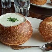 Photo taken at Boudin Bakery Café Baker's Hall by Wendy F. on 8/25/2012