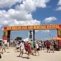 Photo taken at New Orleans Jazz and Heritage Festival by Jenna E. on 5/3/2012