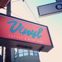 Photo taken at Vinyl Coffee & Wine Bar by Marycarl F. on 7/20/2012