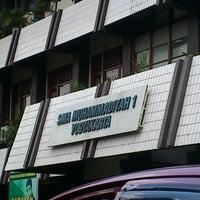 Photo taken at SMA Muhammadiyah 1 Yogyakarta by Anggha O. on 9/6/2012
