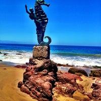 Photo taken at Playa de los Muertos by Rafael A. on 4/17/2012