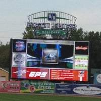Photo taken at Fifth Third Ballpark by Katie A. on 8/23/2012