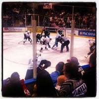Photo taken at Mohegan Sun Arena at Casey Plaza by Russell M. on 4/8/2012