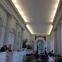 Photo taken at Orangery at Kensington Palace by miyuki i. on 8/16/2012