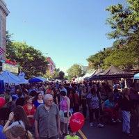 Photo taken at Davis Square by Marinda on 7/21/2012