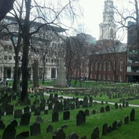 Photo taken at Granary Burying Ground by Ed L. on 4/8/2012
