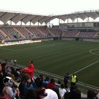 Photo taken at Estadio Bicentenario de La Florida by Juan Carlos F. on 5/19/2012