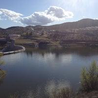 Photo taken at Canyon Lake Dam by Payton B. on 4/1/2012