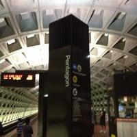 Photo taken at Pentagon Metro Station by Jaime on 7/14/2012