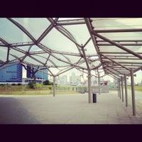 Photo taken at Marina Bay MRT Interchange (NS27/CE2) by Cayden on 7/7/2012
