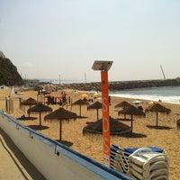 Photo taken at Praia do Norte by Miguel R. on 9/8/2012