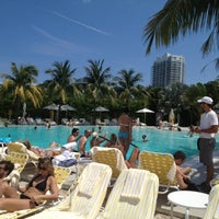 Photo taken at Pool at The Standard Spa, Miami Beach by Daniel G. on 4/1/2012